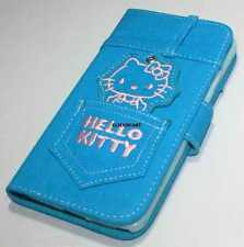 Hello Kitty Denim Cloth Style Leather Case For  Samsung Galaxy Note3 N9000 N9005