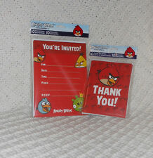 Angry Birds Invitations (10) + Thank You Cards with envelopes (10)