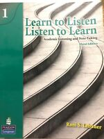 Learn to Listen, Listen to Learn Vol.1 With 2 Original CD