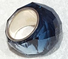 4cd9645d38c6 Signed Swarovski Montana Blue Crystal Nirvana Ring Sm 52 New In Box Rare ~