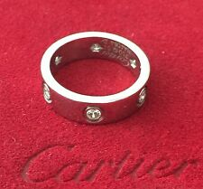 Authentic CARTIER 6 Diamonds LOVE Band Ring White Gold-size 52 (6)-DEAL!!!