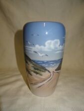 "Collectable Vintage 7.5"" Royal Copenhagen Vase - Seagull's & Sand Dunes"