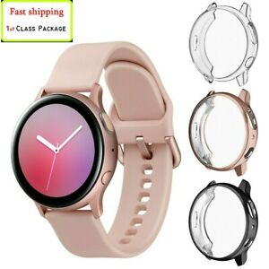 (2 Pack)TPU Screen Protector case For Samsung Galaxy Watch Active 2 40mm 44mm