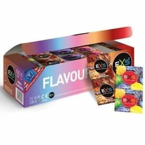 EXS Mixed Flavoured Condoms - Chocolate, Strawberry, Cola, Bubblegum. NHS UK
