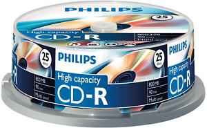 Philips CD-R Rohlinge 25er Spindel Cakebox 800MB/90min CR8D8NB25