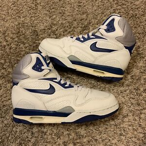 Vintage 90s Nike Air Ascension Blue & White 1990 Sneakers Size 8.5
