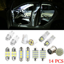 14x LED Interior Package Accessories For T10 36mm Map Dome License Plate Lights