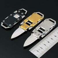 Keychain Mini Folding Pocket Knife Outdoor Survival Stainless Steel