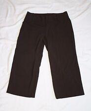 Mossimo Stretch Womens 2 Chocolate Brown Capri Capri Pants W28 L20.5 R8