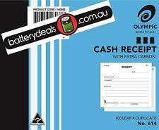 Olympic Cash Receipt Docket Book 100x125mm No614 Duplicate #614 140883       614