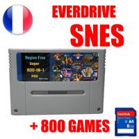 Cartouche EverDrive Super Nintendo SNES + SD 8GO 800 jeux region free