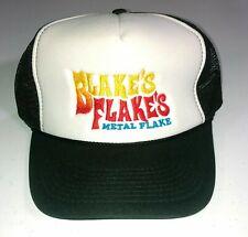 Blakes Flakes Metal Flake Trucker Hat Cap 2-tone foam mesh