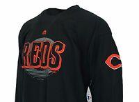 Cincinnati Reds MLB Black Long Sleeve Majestic T Shirt Men's Big & Tall, nwt