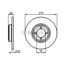 ORIGINAL BOSCH Bremsscheiben Satz Peugeot 504 505 Bj.68-93 - 0 986 478 091