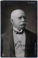 Count Ferdinand von Zeppelin Photo Postcard - Signed 1909