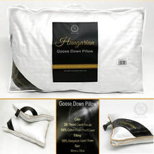 Luxury 100% Hungarian Pillow Snow White Goose Down Bed Hotel Quality Feather New
