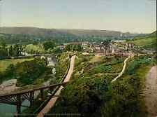 Torrington. Railway Station and Rothern Bridge.  PZ vintage photochromie, photoc