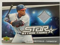 2006 Upper Deck Star Attractions #SA-GS Gary Sheffield GAME USED Jersey Card