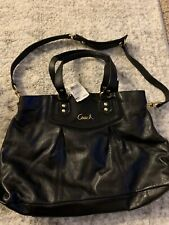 Coach Black Ashley Leather Carryall Handbag/Shoulder bag/Satchel F19243 NWT $398