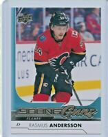 2017/2018 UPPER DECK YOUNG GUNS ROOKIE RC #218 RASMUS ANDERSSON FLAMES