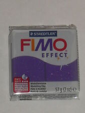 Pain de pâte fimo effect lilas pailleté N°602, poids:57g