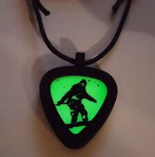 Glow In The Dark Pickbandz Bigfoot Yeti Sasquatch Guitar Pick Necklace