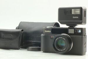 [MINT w/ Case, Flash] Konica Hexar AF Black 35mm Rangefinder Camera From JAPAN