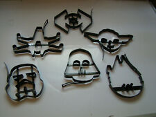 Star Wars/Williams Sonoma/ Set of 6 Black Heavy Metal cookie Cutters and pancake