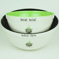 Rae Dunn - HALLOWEEN Candy/Mixing Bowls - (Set of 2) - HOCUS POCUS+WITCHES BREW