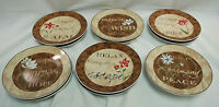 "Pfaltzgraff Earthly Inspirations Dessert Plates 6 1/2""  Set of 12   S9181"