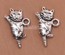 40pcs  Tibet silver  tiger Charm Pendant Jewelry Craft DIY  19x12mm