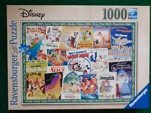 Ravensburger Disney Vintage Movie Posters 1000 PIeces Jigsaw Puzzle (19874 )