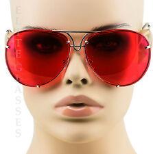 Oversized Designer Aviator Eyeglasses Gold Metal Frame Clear Lens Women Glasses