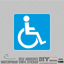 Disabled Parking Disability Holder Note Permit Badge Self Adhesive Vinyl Sticker