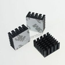 5pcs Lot 25mm 25x25x5mm Gold Memory IC Chip Aluminum Heatsink With 3M Tape HQ