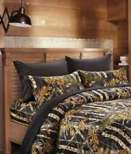 6 pc Black Camo Woods King size sheets and pillowcases ; no comforter