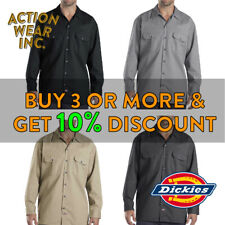 DICKIES 574 MENS LONG SLEEVE WORK SHIRT BUTTON FRONT ACTIVE FORMAL WORK UNIFORM