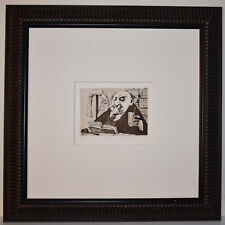 Listed American Artist Charles Bragg, Signed Etching, Judge