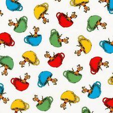Dr Seuss Fabric - Hop on Pop - Teacups - Bright - 100% Cotton