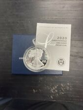 2020-W Proof Silver Eagle - Orignal Box & Cert - Gem Condition!