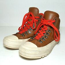 Converse All Star leather hiker hi top shoes brown unisex womens 6.5 mens 5