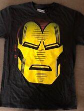 New Men's Marvel Iron Man Big Head  T Shirt Black Sz M Free Ship