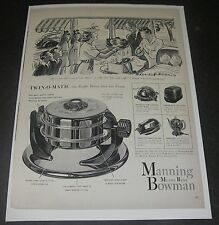 Print Ad 1941 APPLIANCE Manning Bowman Twin-O-Matic Cartoon ART Helen Hokinson