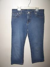 Polo Ralph Lauren Jeans JR Women's Size 7/8 Low Rise Hipster Blue Jean Capri