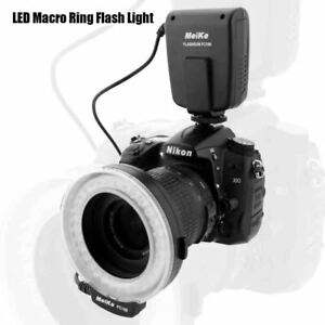 LED Macro Ring Flash Light With 7 Adapter For Canon Nikon Olympus Pentax Digital
