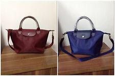 Longchamp Le Pliage Neo Small Handbag 100% Auth Navy Wine Available 248772bb20bc0