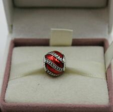 NEW Genuine PANDORA Sterling Silver RED ADORNMENT CHRISTMAS Charm 791991EN07