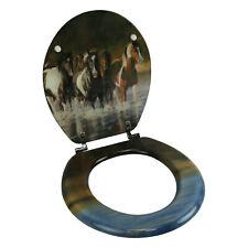 River's Edge Products Toilet Seat - Horse V Schultz