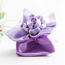 Candy Satin hot PurpleTrim Bucket Bag boxes Wedding Party Favor Decoration Gift