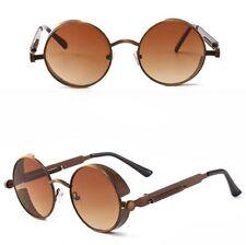 Men Women Vintage Polarized Sunglasses Steampunk Round Retro Glasses Eyewear